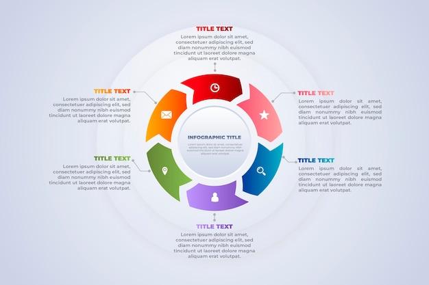 Circulaire data en visuals scrum infographic Gratis Vector