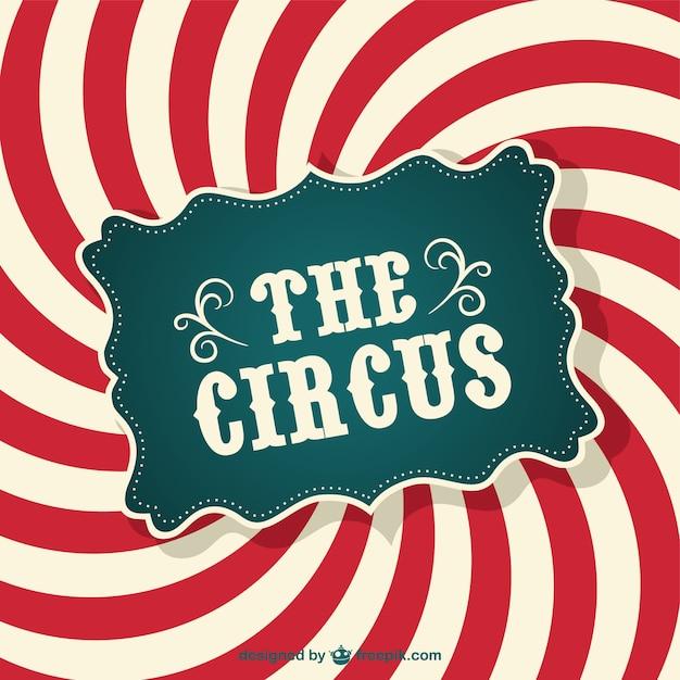 Circus abstract kleurenwerveling poster Gratis Vector