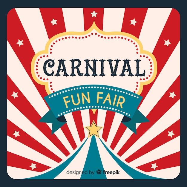 Circus carnaval achtergrond Gratis Vector