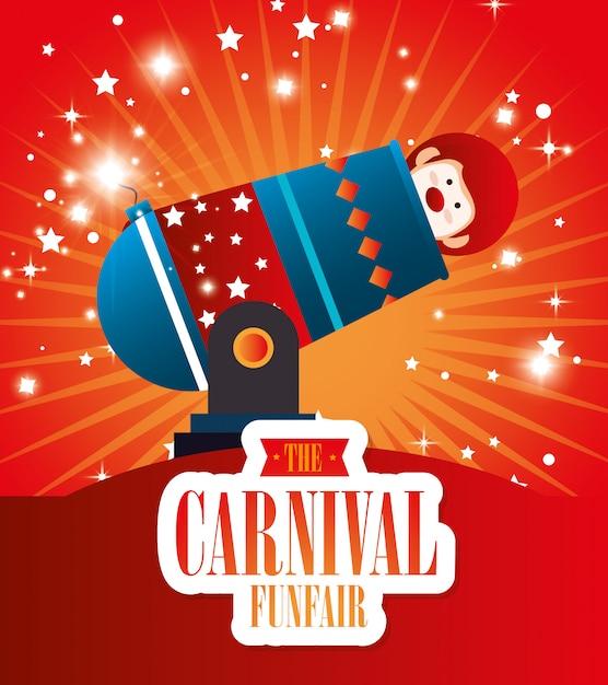 Circus-carnaval entertainment Premium Vector