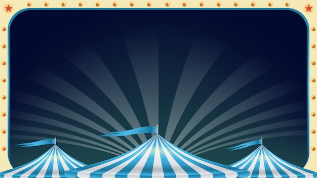 Circus poster leeg. Premium Vector
