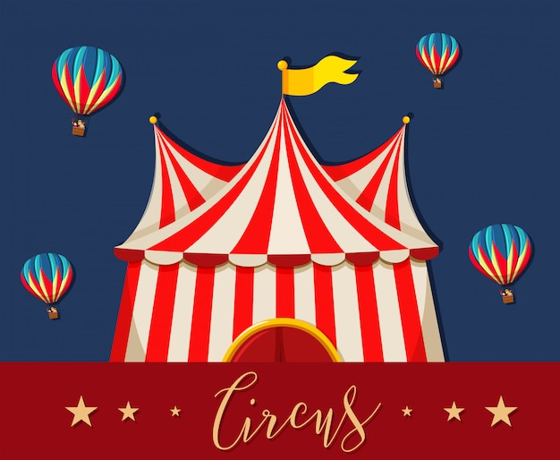 Circus pretpark thema sjabloon Gratis Vector