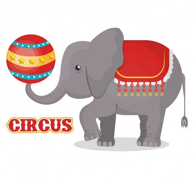 Circus show ontwerp Premium Vector
