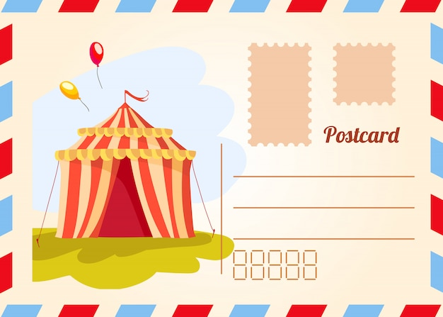 Circus-ticket. carnaval-affiche. circusshow. verschillende circusartiesten. Gratis Vector