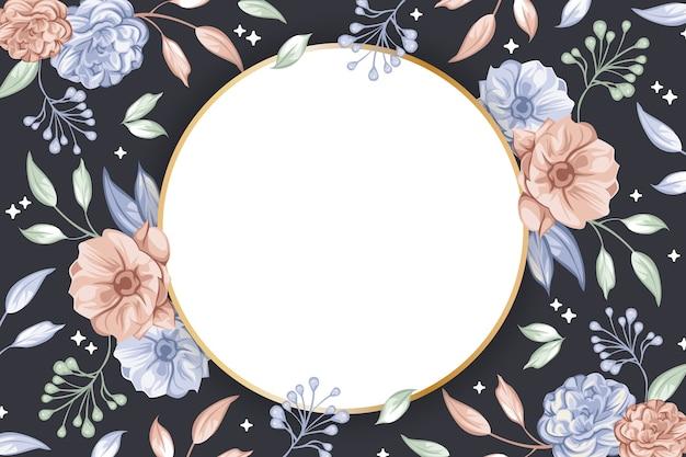 Cirkel badge vorm voor behang concept Gratis Vector