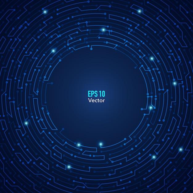 Cirkel elektronisch Premium Vector