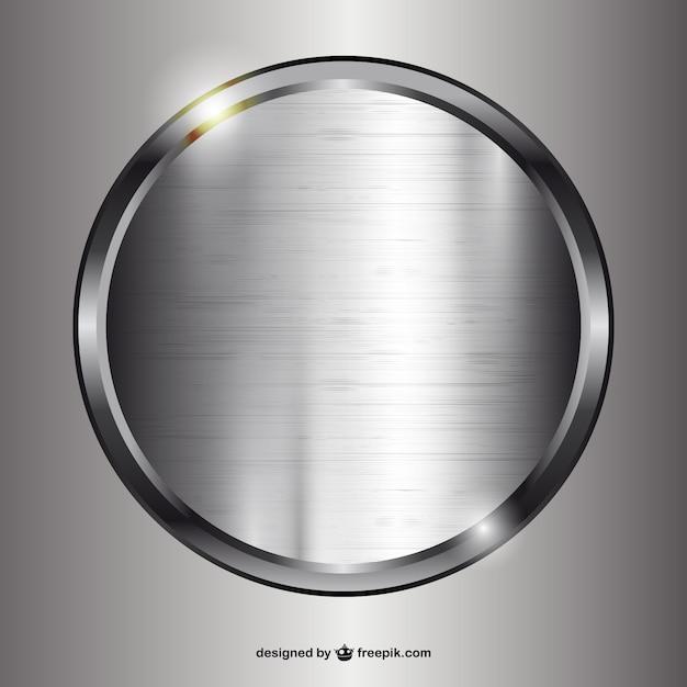 Cirkel gemaakt van metaal Gratis Vector