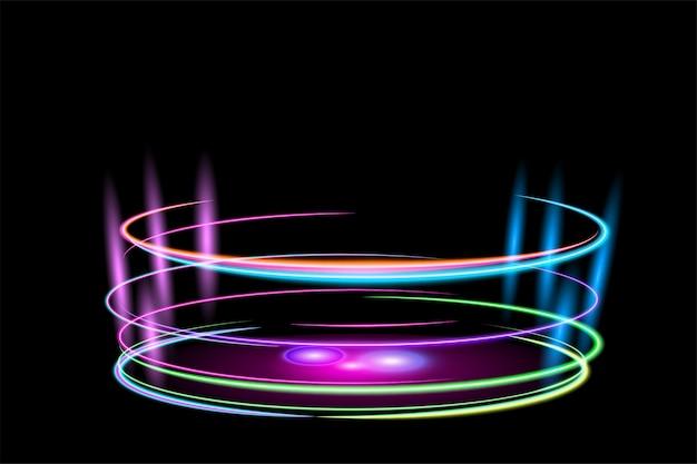 Cirkel glanzend lichteffect Premium Vector