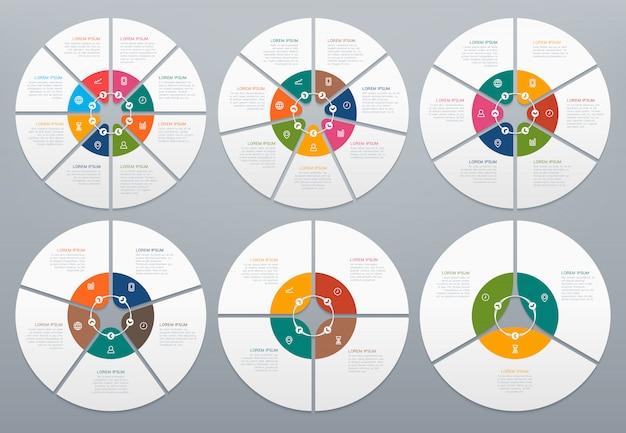 Cirkel infographic set Premium Vector