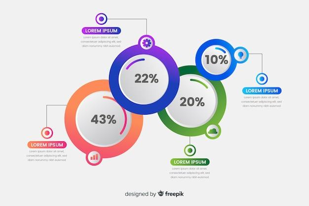 Cirkel infographic Gratis Vector