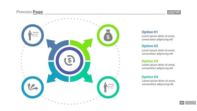 Cirkel optie diagram schema sjabloon Gratis Vector
