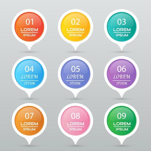 Cirkel sticker set Premium Vector
