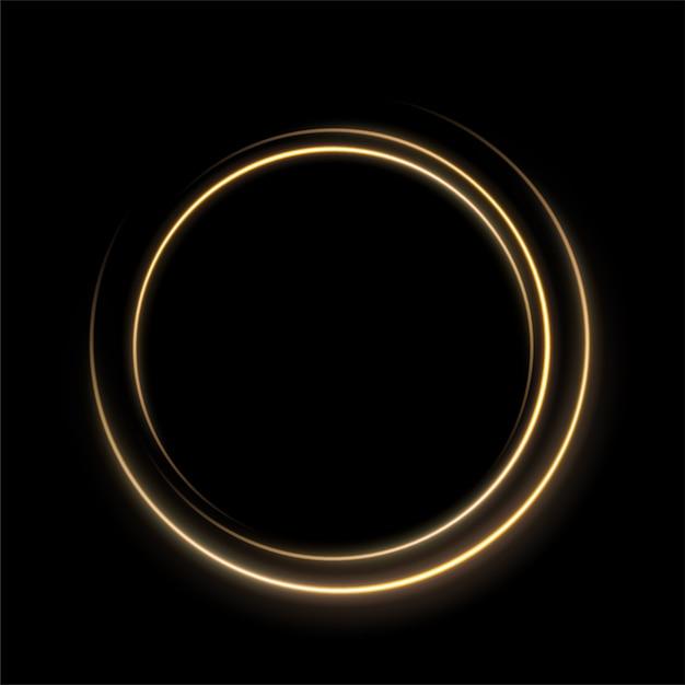 Cirkel van gouden lichtlijn Premium Vector