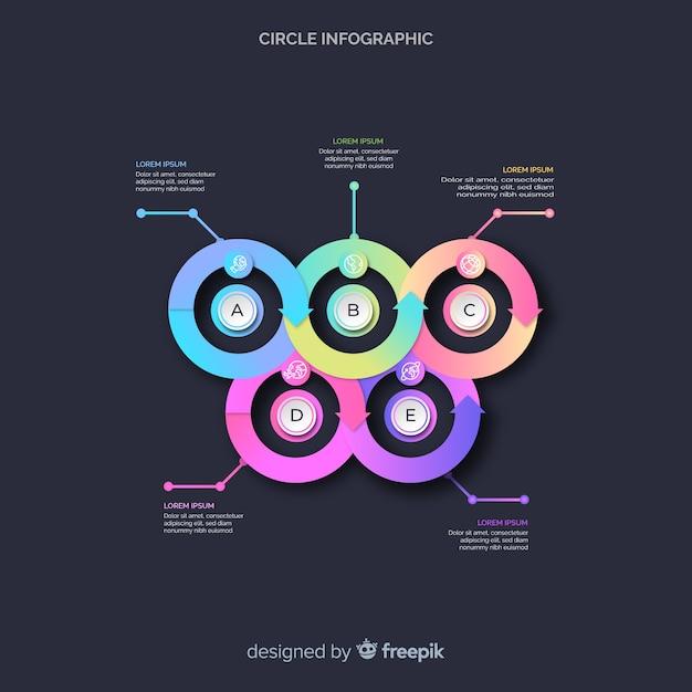 Cirkeldiagram infographic Gratis Vector