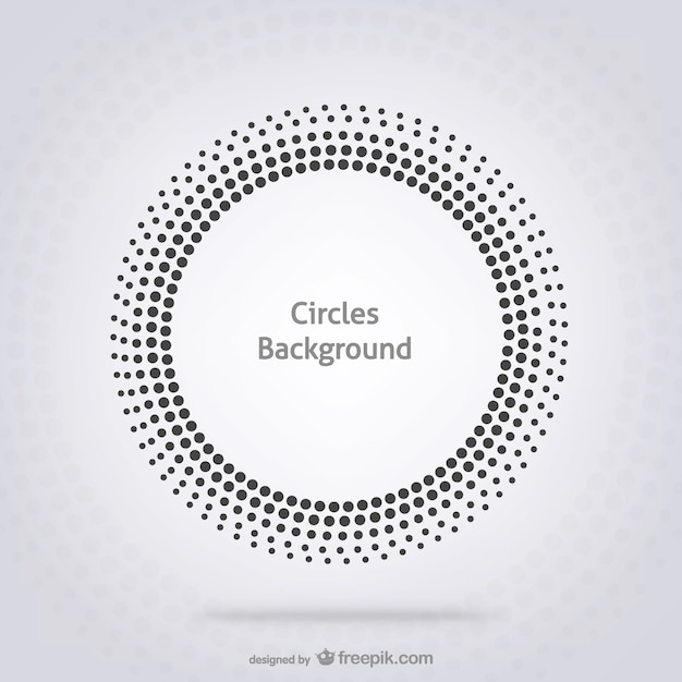 Cirkels achtergrond Gratis Vector