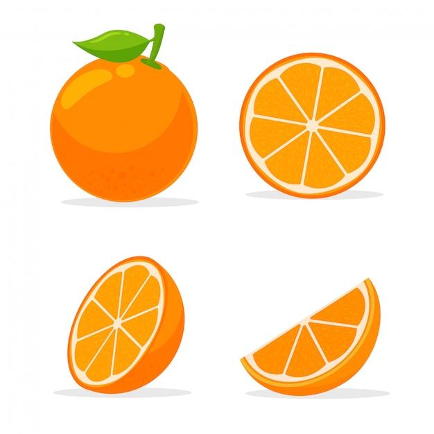 Citrusvruchten met veel vitamine c. zuur, waardoor het fris aanvoelt. Premium Vector