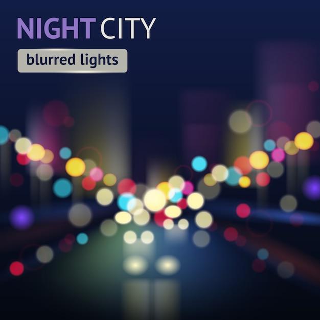 City blur achtergrond Gratis Vector