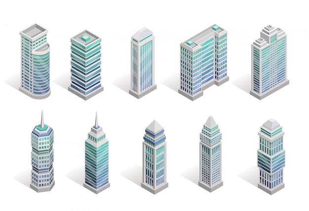 City houses set Gratis Vector
