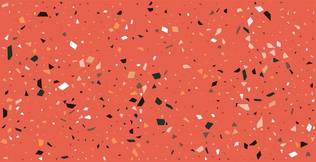 Claasic rode terrazzo vloeren patroon textuur achtergrond Gratis Vector