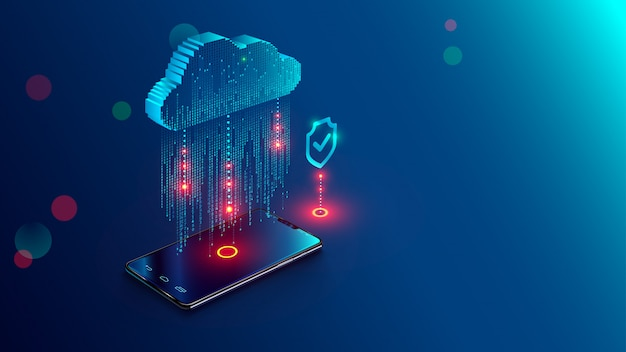 Cloud computing-concept Premium Vector