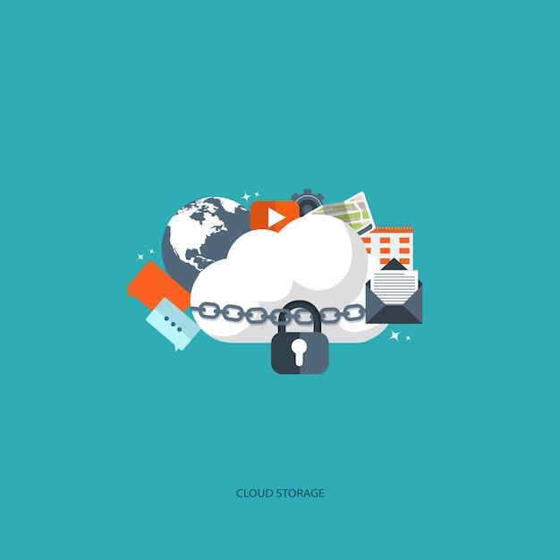 Cloud computing-concept Gratis Vector