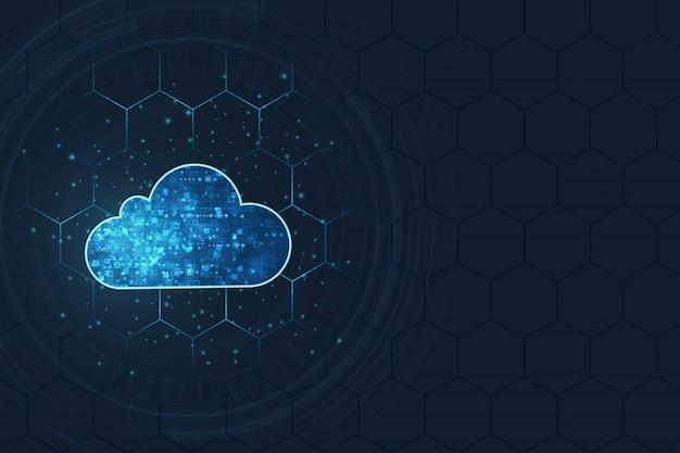 Cloud computing concept. Premium Vector
