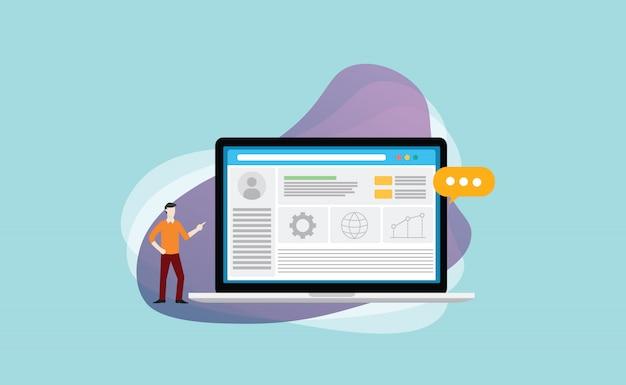 Cms content management systeem Premium Vector