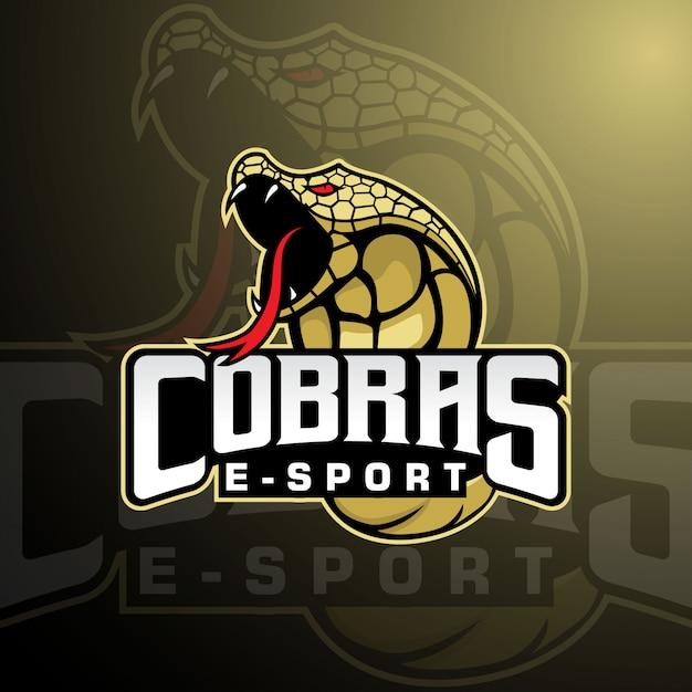 Cobra e-sports team mascotte logo Premium Vector