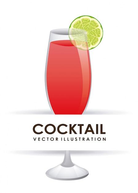 Cocktail grafisch ontwerp vectorillustratie Gratis Vector