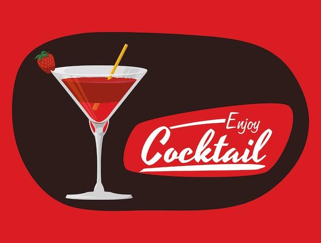Cocktail iconen ontwerp Premium Vector