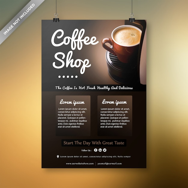 Coffee shop flyer design Premium Vector