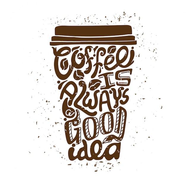 Coffee to go art composition Gratis Vector