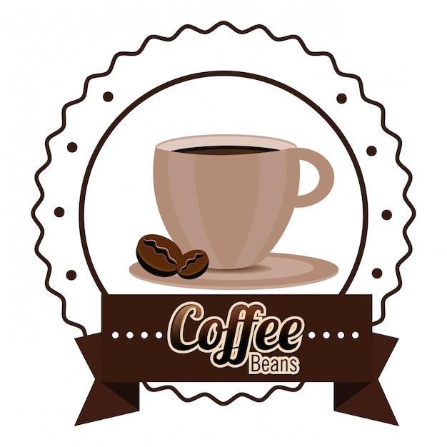 Coffeeshop en drankje Gratis Vector