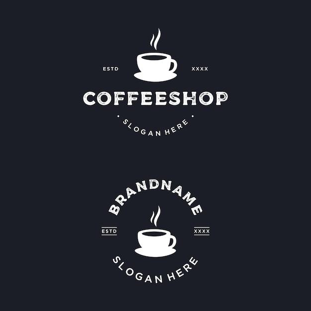 Coffeeshop logo ontwerp Premium Vector