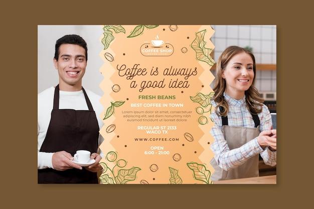 Coffeeshop sjabloon banner Gratis Vector