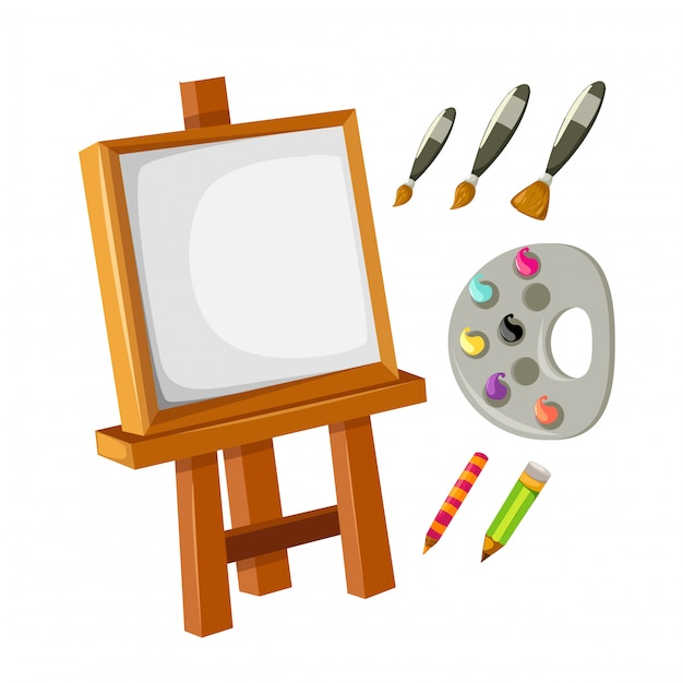Collectie artist's canvas ingesteld Premium Vector