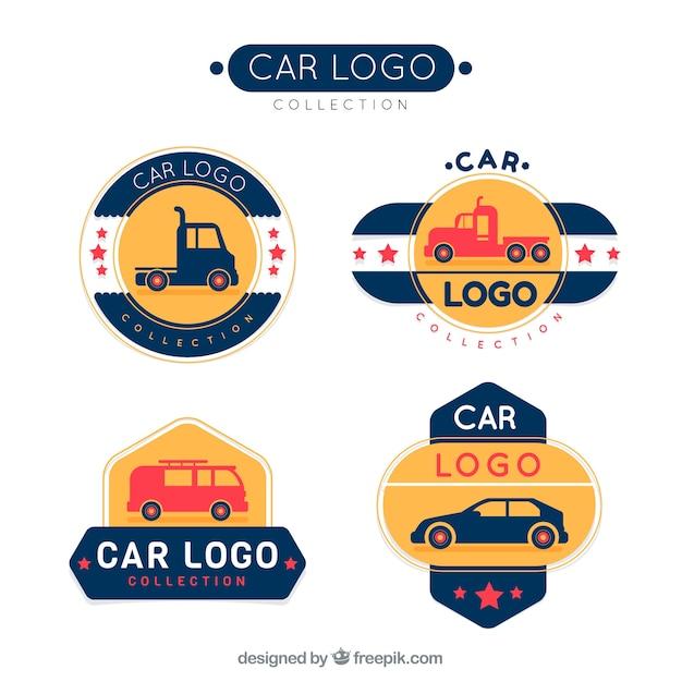 Collectie moderne auto-logo Gratis Vector
