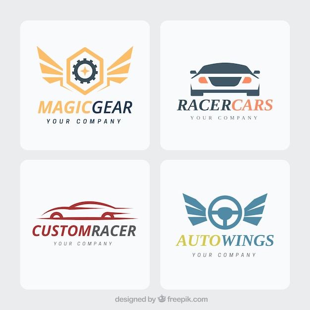 Collectie moderne auto-logo Premium Vector