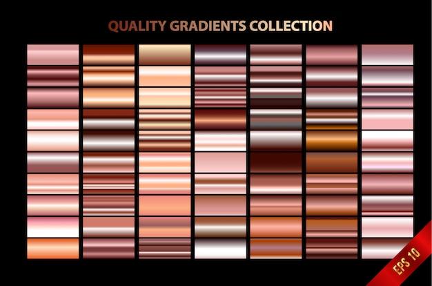 Collectie moderne kwaliteitsgradiënten Premium Vector