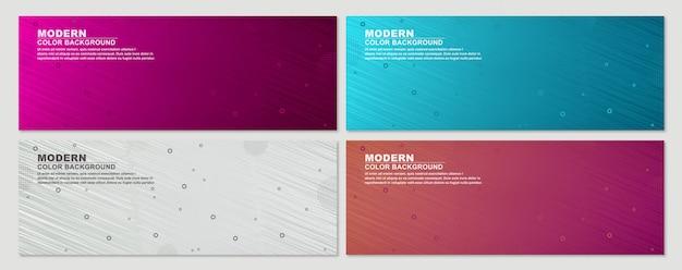 Collectie van geometrische set banner achtergrond Premium Vector