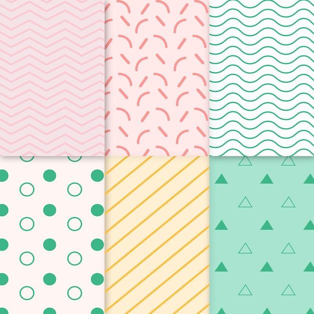 Collectie van minimaal geometrisch patroon Gratis Vector