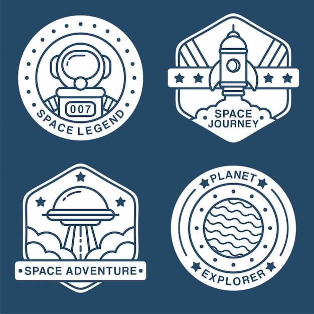 Collectie van ruimtelabels Premium Vector