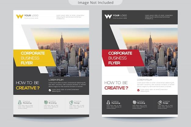 Collectieve flyer-sjabloon voor het bedrijfsleven Premium Vector