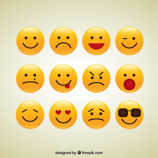 Collection of smiley iconen Gratis Vector