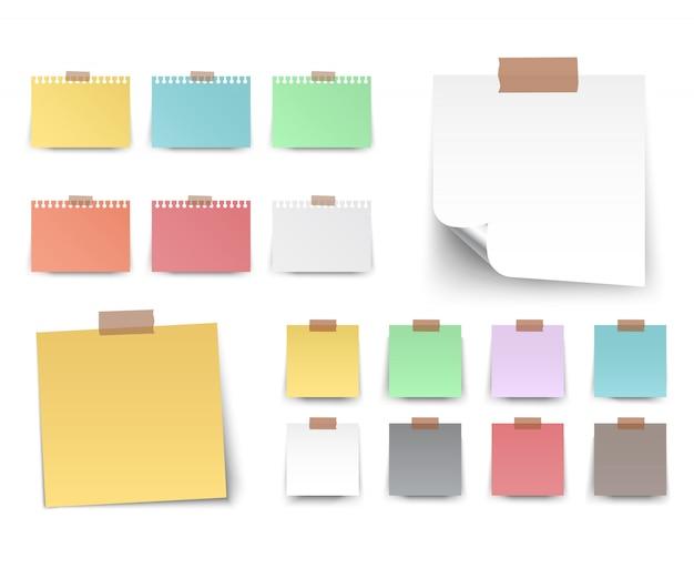 Colorfull en witte stickers vierkante vector Premium Vector