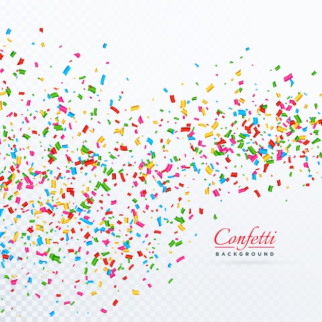 Colroful confetti en linten vallende vector achtergrond Gratis Vector