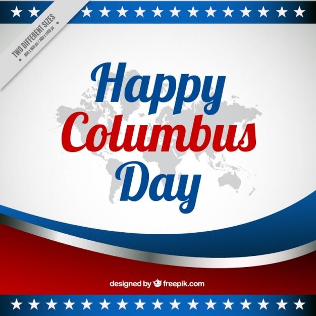 Columbus dag abstracte achtergrond met golven Gratis Vector