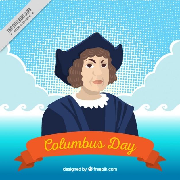 Columbus dag achtergrond Gratis Vector
