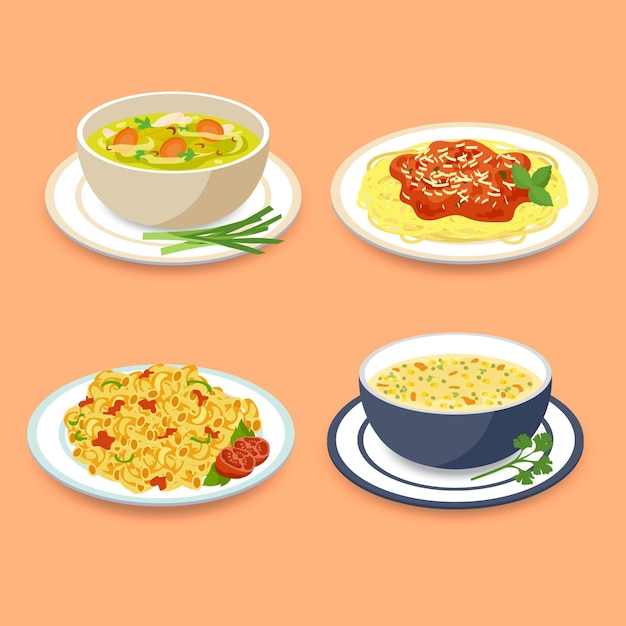 Comfort food concept Gratis Vector