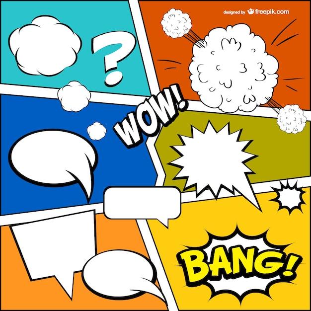 Comic book gratis template Gratis Vector
